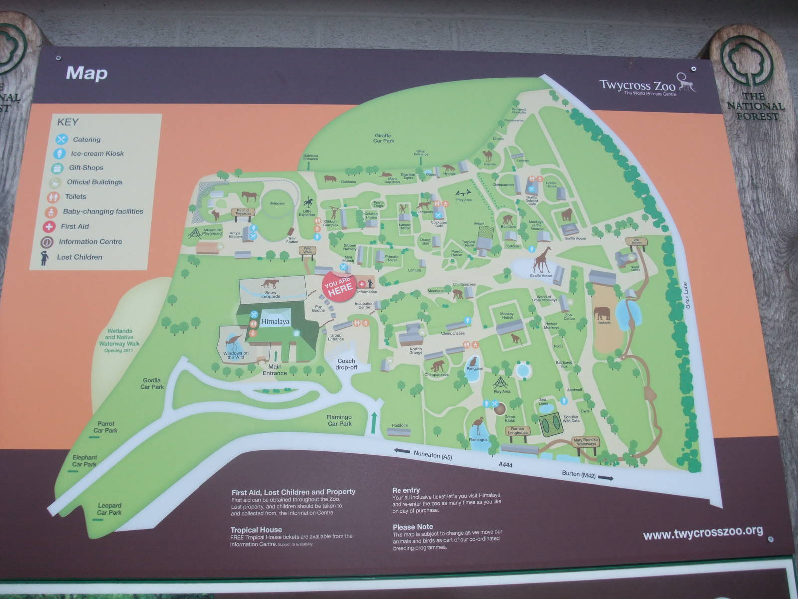 Current Map at Twycross 281110  ZooChat