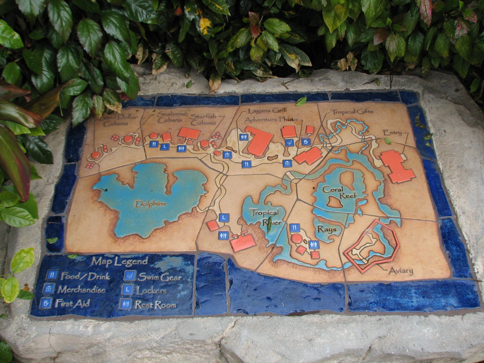 Discovery Cove - Map - ZooChat on