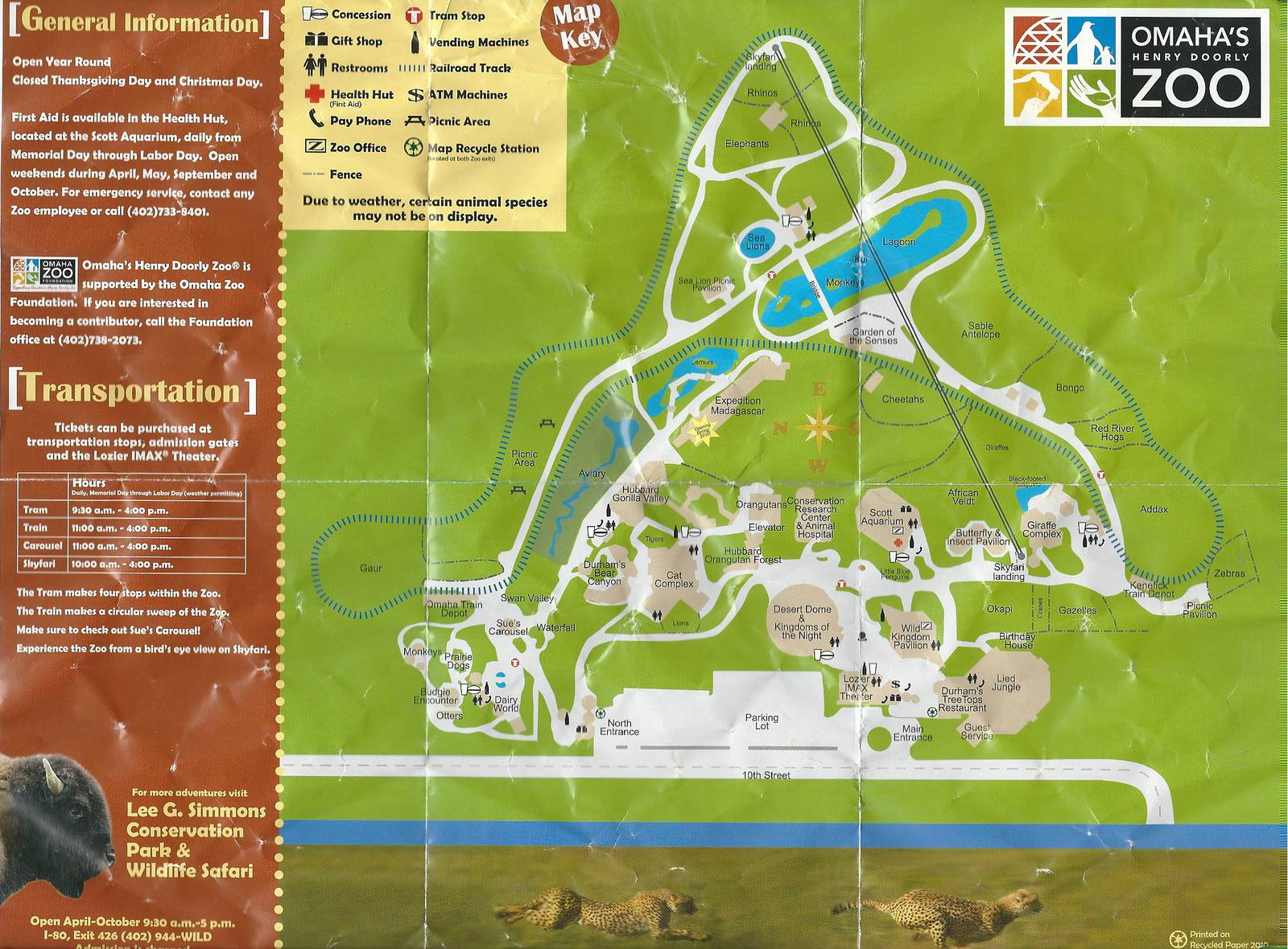 Omaha Zoo Map Henry Doorly Zoo Map   2010   ZooChat