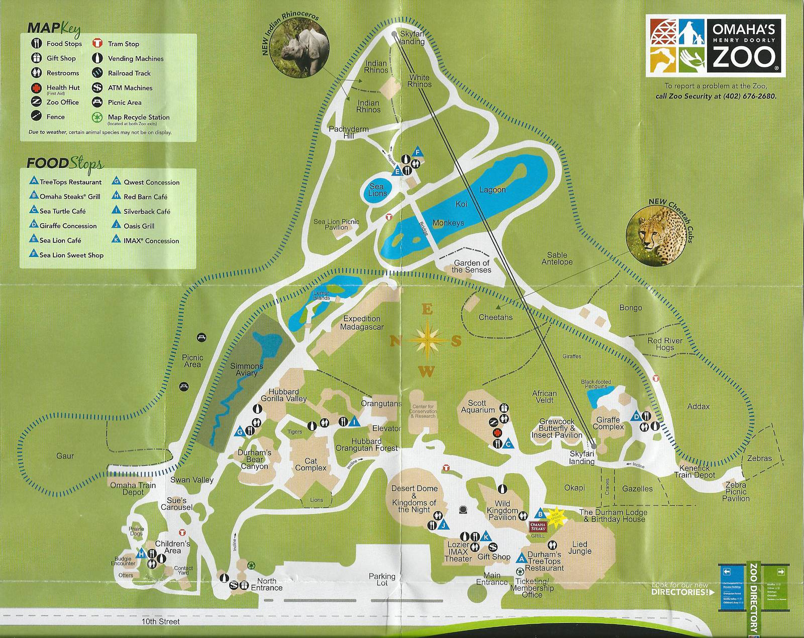 Omaha Zoo Map Henry Doorly Zoo Map   2011   ZooChat
