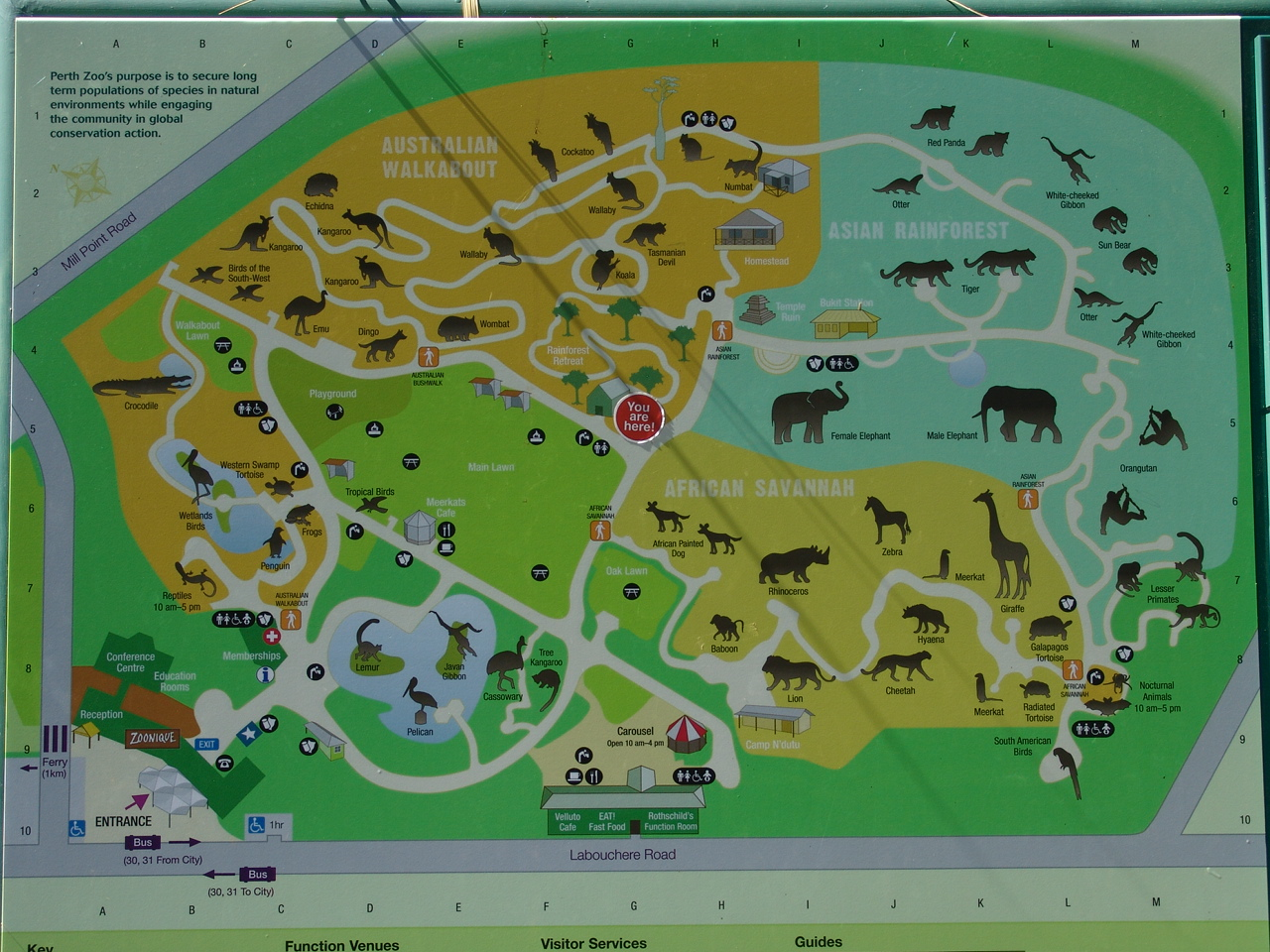 Perth Zoo Map Map of the Perth Zoo (July 04, 2010)   ZooChat