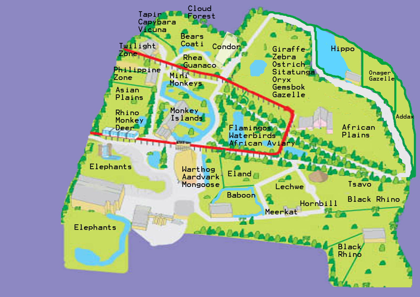 My Chester Zoo Plan