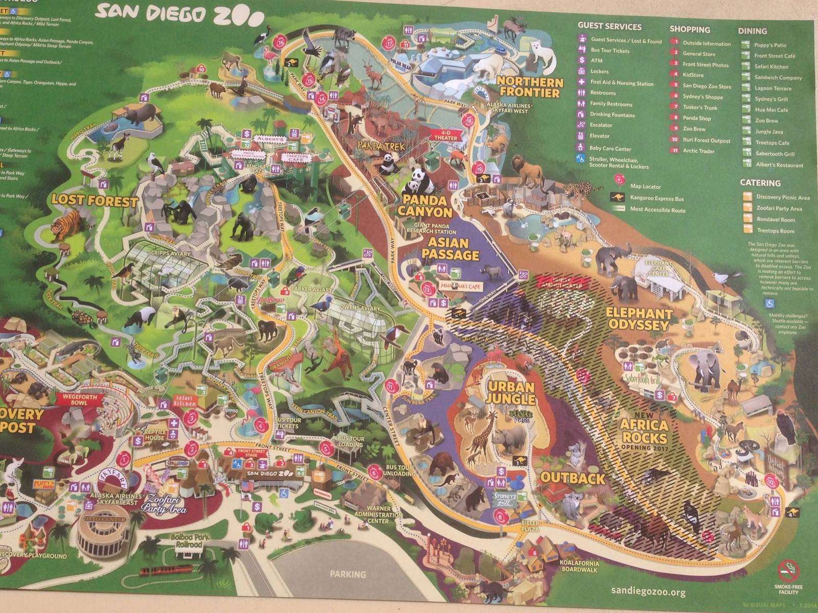 New Map Showing Africa Rocks Opening ZooChat - San diego zoo map