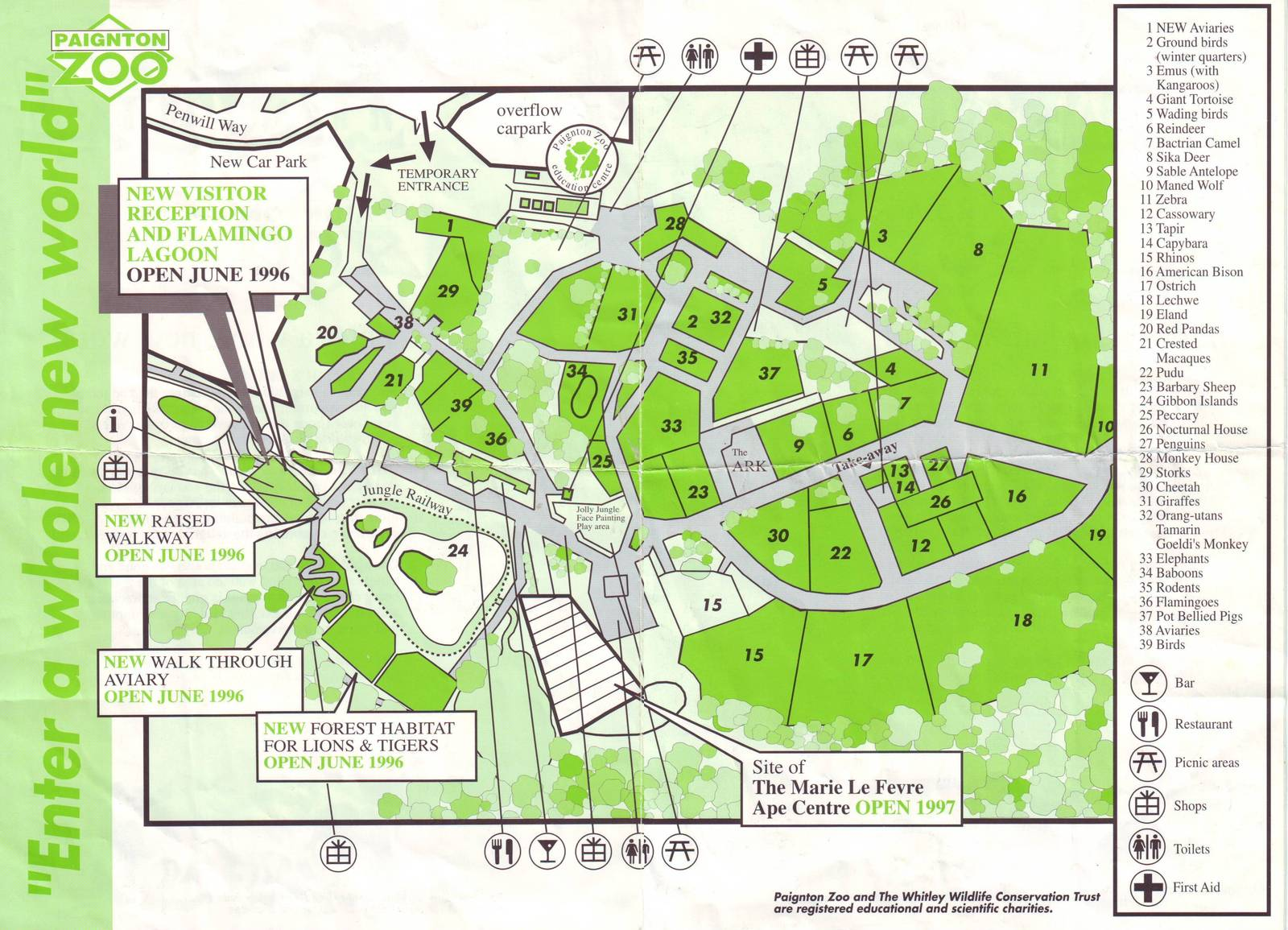 Paignton Zoo Map Old Map 2 | ZooChat Paignton Zoo Map