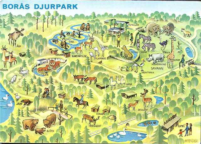 Old Zoo Map ZooChat - Sweden map boras
