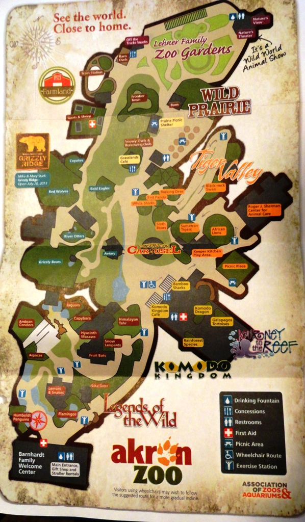 Summer 2013 Map with Grizzly Ridge ZooChat